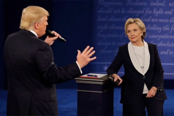Donald Hillary 2nd presidential debate 2016